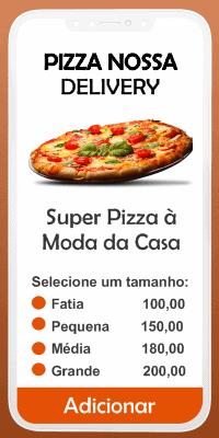 Aplicativo criado para Pizzaria Nossa